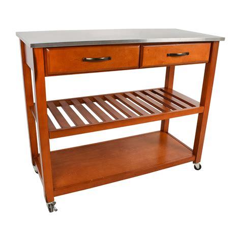 kitchen carts product island with bench seating crosley 46 off crosley crosley natural wood top kitchen cart