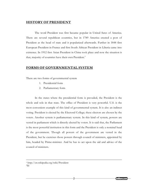 status of the president the constitution