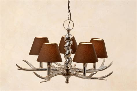 Brown Chandelier Chandelier Antler With Umbrella In Brown Antler L Ceiling Light L Branch Ebay