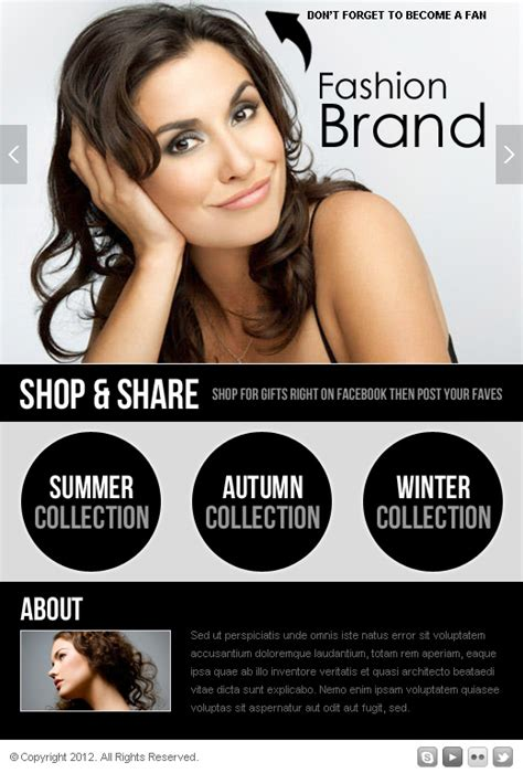 fashion collection html templates 013   PPV Landing Page