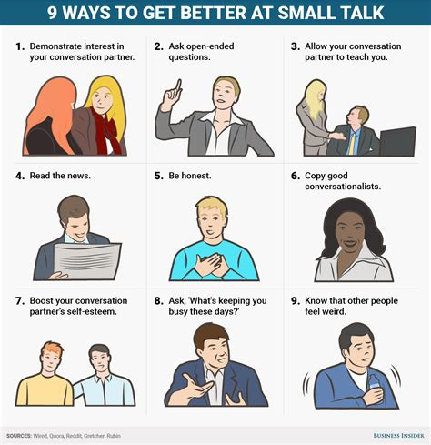 7 Worst Smalltalk Topics by 9 Ways To Get Better At Small Talk Business Insider
