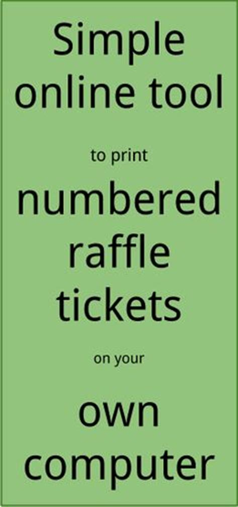 printing raffle tickets at home raffle ticket creator print raffle tickets on your own