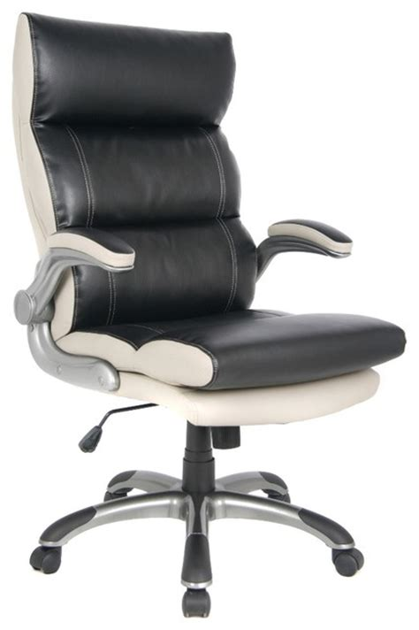 gray leather executive office chair viva office high back black and gray bonded leather