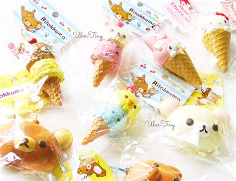 Squishy Licensed Kawaii Mangosteen Fruit Original rilakkuma scoop icecream squishy licensed
