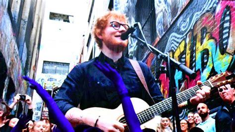 ed sheeran melbourne ed sheeran wows fans with a free gig in australian laneway