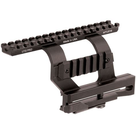 ak side mount picatinny rail leapers utg pro mtu016 detachable dovetail side rail mount
