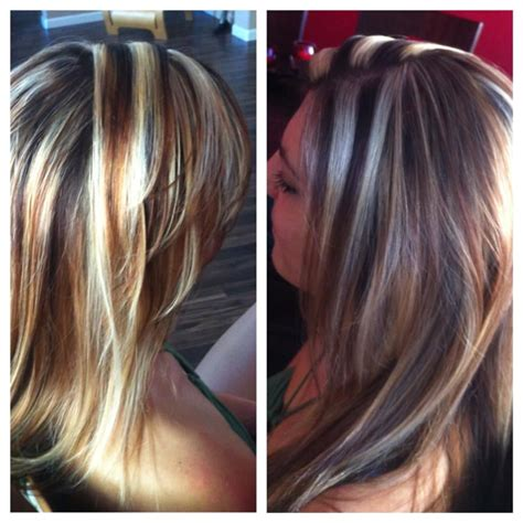 chuncky blonde highlights with brown in hair pictures for woman in 40 chunky blonde highlights by sarah yelp