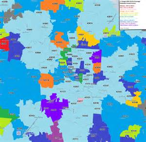 columbus area zip codes and their economies all columbus