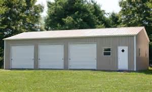 Two car metal garage building kit