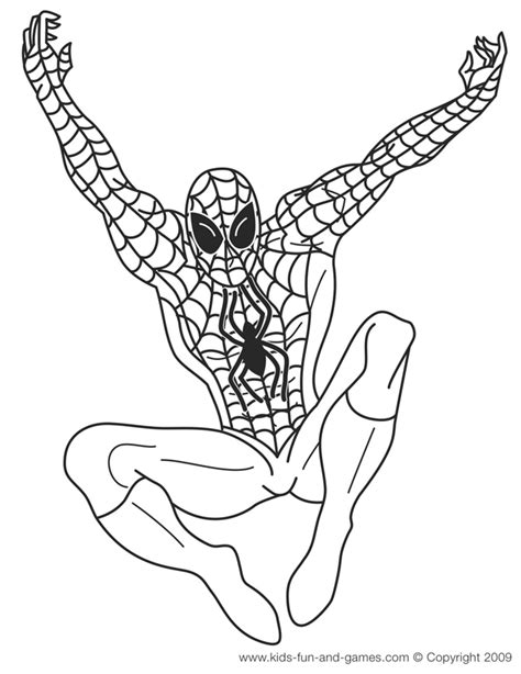 superhero coloring pages games spiderman coloring pages courtesy of kids fun and games