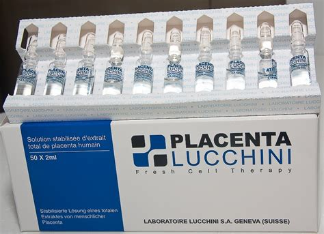 Placenta Lucchini lucchini placenta swiss 2ml x 50 oules injection beauty make up korean circle