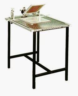 Meja Catok Sablon ragam alat dan bahan sablon cetak kaos murah