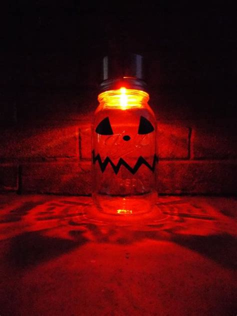 Solar Mason Jar Halloween Pumpkin 10 11 Holidays Pumpkin Solar Lights