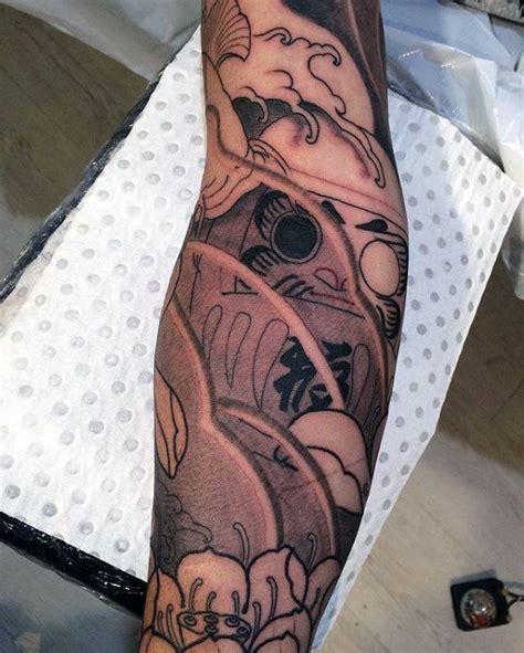 daruma doll tattoo designs  men japanese ink ideas