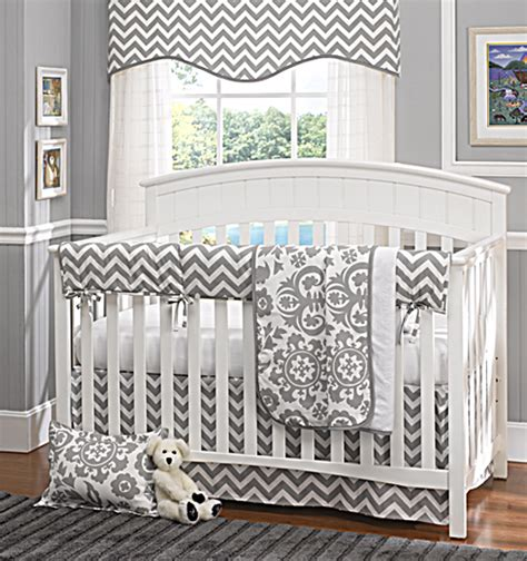 grey chevron crib bedding liz and roo partners with brixy to launch baby bedding for