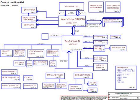 motherboard diagram acer travelmate 4150 4650 laptop schematic diagram