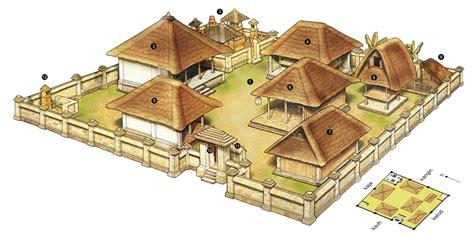 layout rumah tradisional bali arsitektur pola dan ukuran rumah tradisional bali