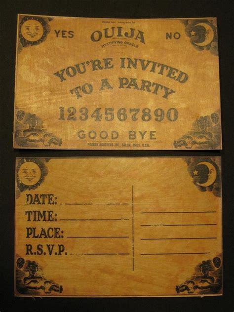 How To Make Ouija Board Out Of Paper - ouija board invitations if i get married i m