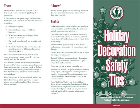 decorating safety tips decoration safety tips from cpsc