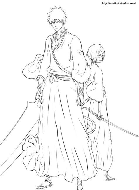 ichigo and rukia by ioshiklineart on deviantart
