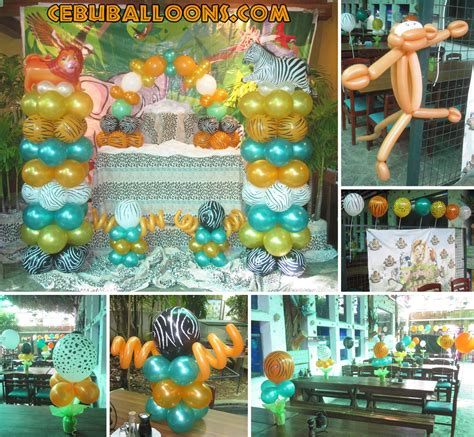 jungle themed balloon decorations safari cebu balloons and supplies