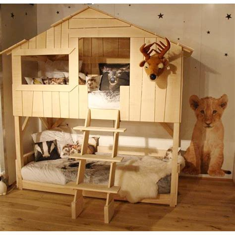 bunk bed house fun themed tree house bunk beds best house design