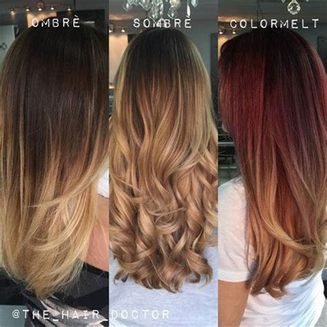 color melt hair technique the difference between ombre sombre and colormelt