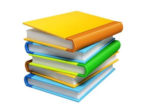 3 Stacks Of Books 3d Png Icons Welovesolo