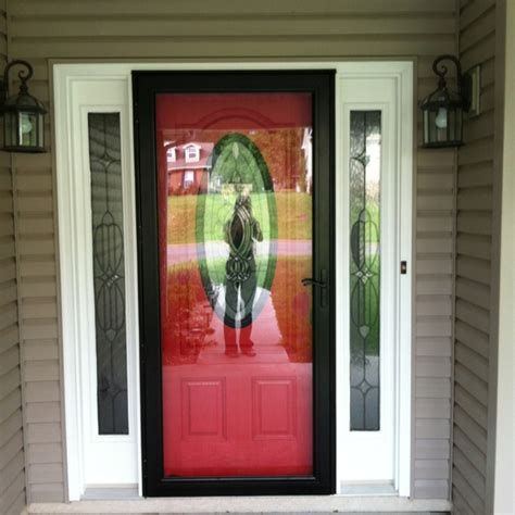 Screen Door For Front Door Front Door With Black Screen Door Doesn T Cover Up The Door With The Color On The