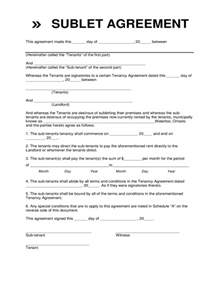 sublet contract form waterloo free download