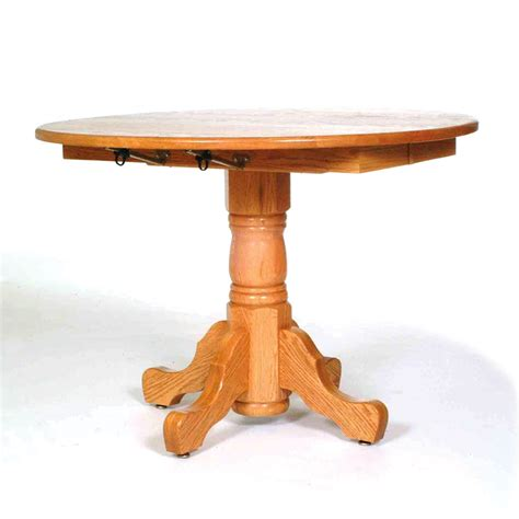 Pedestal Drop Leaf Table Single Pedestal Drop Leaf Table The New Oak Tree