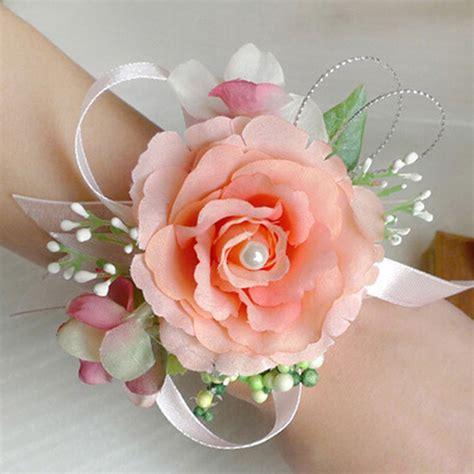 Hot Sale!!! Bridal Wrist Flower Corsage Girls Bridesmaid Sisters Hand Flowers Wedding Prom