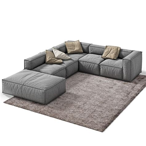 3d divani 3d 3ds peanut sofa vray