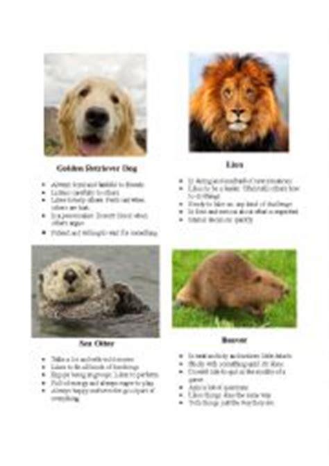 printable animal personality test printable animal personality quiz english worksheets