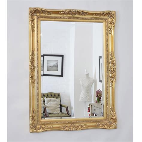 large classic antique french wall mirror