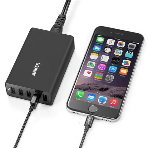 anker desk l anker powerport 5 desktop charger black
