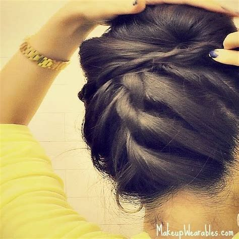 tutorial upside hairbun newbie 1000 images about hair ideas and styles on pinterest