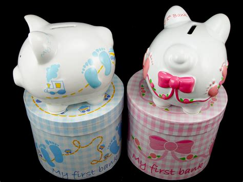 baby gifts piggy banks make practical and adorable personalized baby