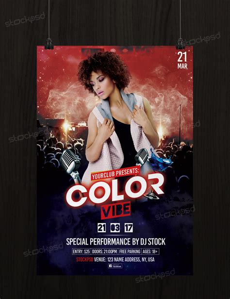 Free Color Vibe Psd Party Free Flyer Template Photoshop Flyer Template Flyershitter Com Club Flyer Templates Photoshop