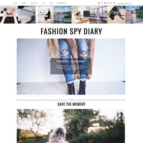 layout na blog blogger template fashion spy blogger templates