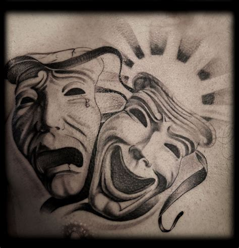 cry now laugh later tattoo designs mask tattoos and designs page 26