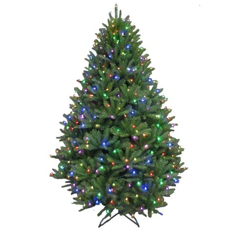 tree with color changing led lights 7 5 ft pre lit led california cedar artificial
