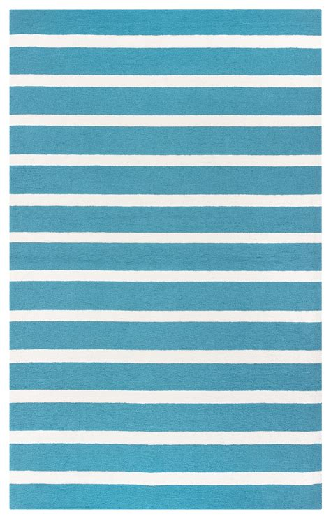 Simple Pattern Area Rugs | azzura hill simple stripe pattern area rug in teal ivory