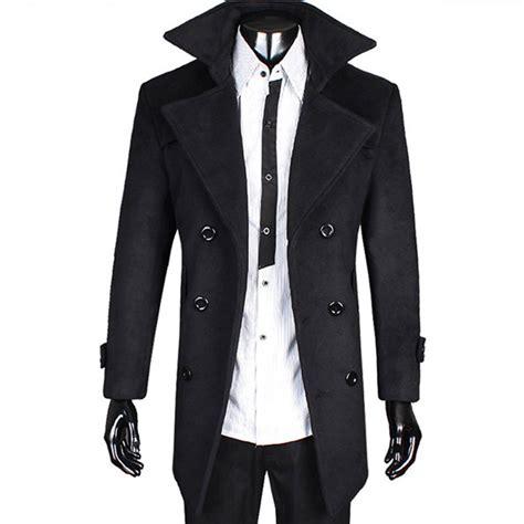 Ct003 Black Trench Coat Sale Mens Han Coats