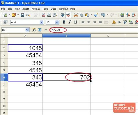 Offices Add Subtract by How To Subtract Numbers In Openoffice Spreadsheet