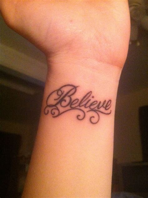 small believe tattoos believe wrist tattoos wrist