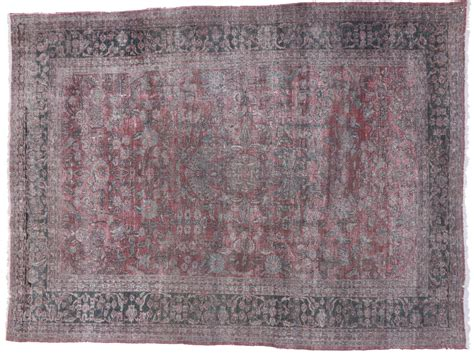 Distressed Area Rug Distressed Antique Tabriz Area Rug 09 00 Quot X 12 03 Quot At 1stdibs