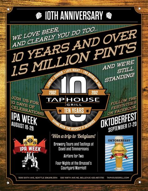 taps house of beer 1 5 million pints of beer in 10 years tap house grill prepares to celebrate