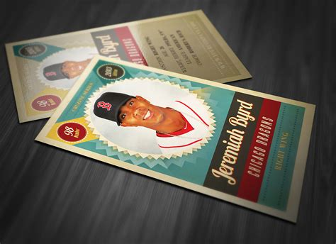 retro trading card template 3 card templates on creative