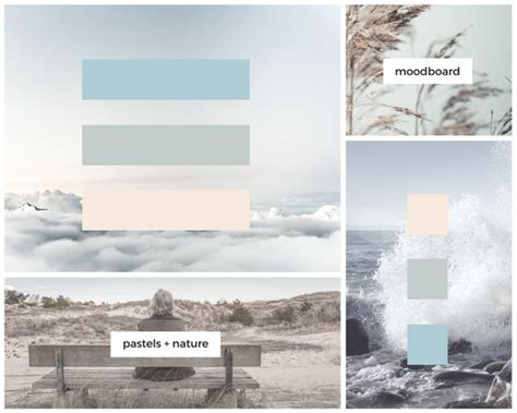 canva grid simple pastel grid photo mood board templates by canva